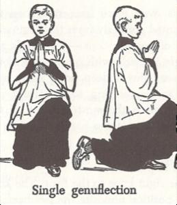 single genuflection